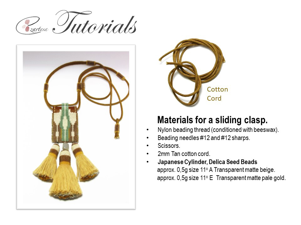How to make adjustable sliding clasp for necklace