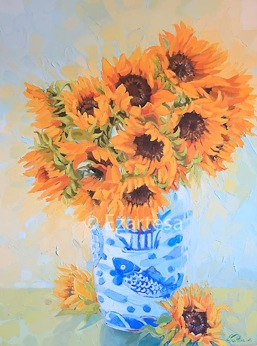 sunflowers fine art painting